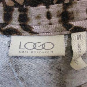 LOGO by Lori Goldstein Tops - LOGO By Lori Goldstein Brown Pocket Tunic Top M